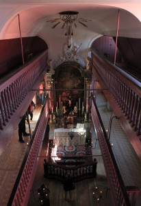 Our Lord in the Attic Church, seen from the topmost level inside the church.