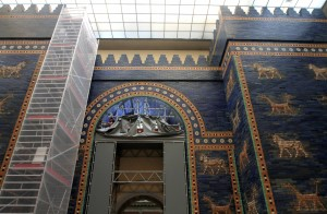 The Ishtar Gate (from Babylon, ca. 604-562 BC), on display in the Pergamon Museum.
