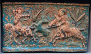Frieze taken from an Iranian palace (13th-century AD).