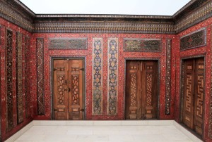 Part of the wall paneling for the Aleppo Room, which comes from a banquet hall of a private residence in Aleppo's Christian district (ca. 1600-1603 AD).