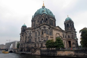 The Berlin Cathedral next to the Spree River.