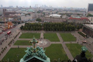 """Looking at the Lustgarten (""""Pleasure Garden"""") in front of the Cathedral and the southwest section of Berlin."""
