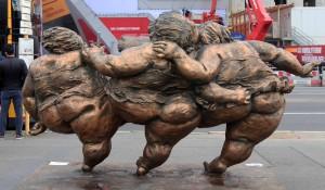 The backside of 'Three Women' by Xu Hongfei (2015 AD).