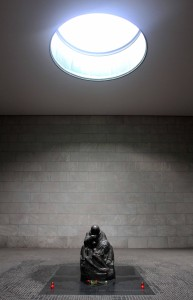 The interior of the Neue Wache, which was designed by Heinrich Tessenow in 1931 AD.