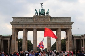Another view of the Brandenburg Gate with economic ignoramuses in the foreground.