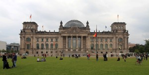 The Reichstag seen from the Platz der Republik.