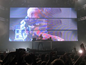 Fatboy Slim performing at Berlin Lollapalooza.