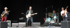 Dawes performing on the second day of Berlin Lollapalooza.