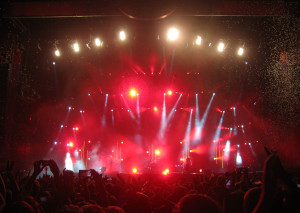 Muse performing on the primary main stage at Berlin Lollapalooza.