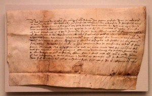 A Letter of Indulgence that was issued to a married couple, dated to August 15, 1503 AD.