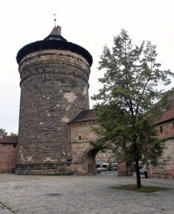 The Spittlertor, one of the four main gates through Nuremberg's old city wall.