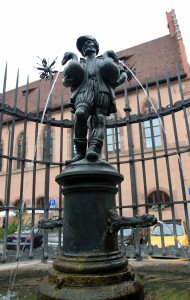 Gooseherd Fountain in Nuremberg.