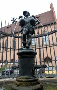 Gooseherd Fountain in Nuremberg.