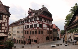 The Albrecht Dürer House, where the artist lived from 1509 to 1528 AD (when he died).