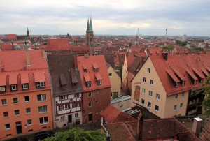 View of the old town from Nuremberg Castle.