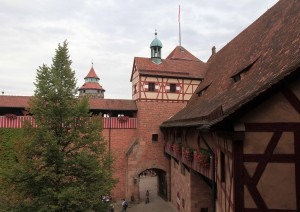 Looking at the Inner Courtyard and Inner Castle Gate from the Bower.
