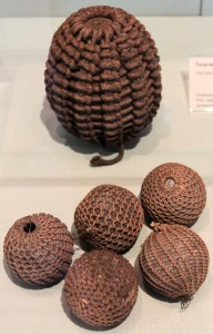 Fire balls from the 17th or 18th-century AD.