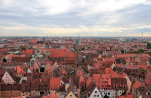 View of Nuremberg from the top of Sinwell Tower.