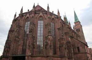 The exterior apse of St. Sebaldus Church.