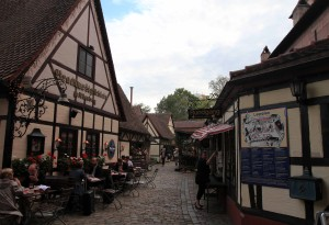 The medieval shopping and handcrafts area just inside Königstor.