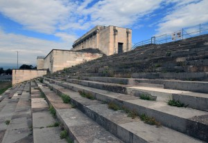 Another view of the Zeppelin Grandstand, which was designed by Albert Speer and inspired by the Pergamon Altar.