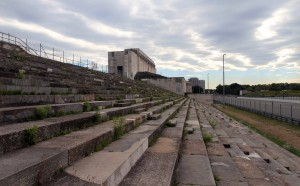 The opposite view of the Zeppelin Grandstand.