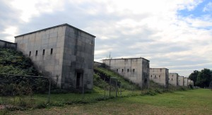 Structures along one of the sides of Zeppelin Field.