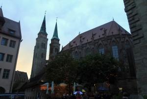 St. Sebaldus Church at sunset.