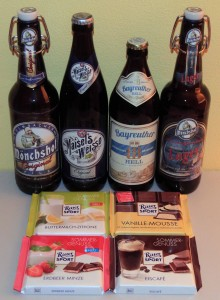 German beer and chocolates - a fantastic way to end the day.
