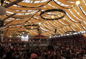 Inside the Winzerer Fähndl beer hall.