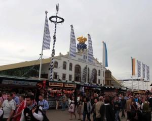 The Hofbräu beer hall.