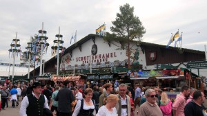 The Schottenhamel beer hall, supported by Spaten-Franziskaner-Bräu.