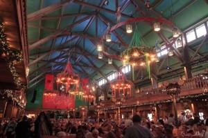 Inside the Weinzelt.