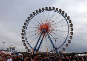 The Ferris wheel at Oktoberfest.