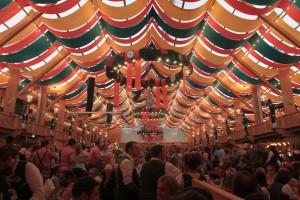 Inside the Schützen-Festzelt beer hall.