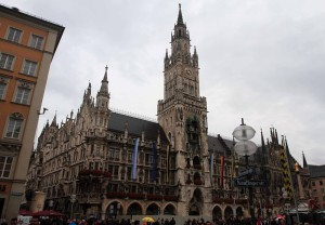 Munich's New Town Hall at Marienplatz.