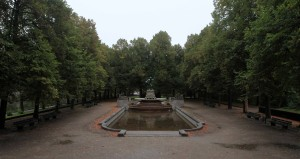The Father Rhine fountain, located on an island in the Isar River.