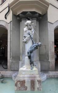 'Fountain Boy' by Matthias Gasteiger (1895 AD), located near Karlstor.