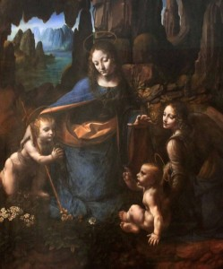 'The Virgin of the Rocks' by Leonardo da Vinci (ca. 1491-1508 AD).