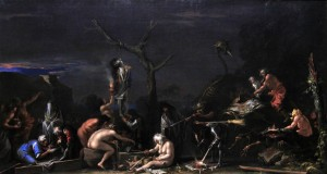 'Witches at Their Incantations' by Salvator Rosa (1646 AD).