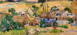 'Farms near Auvers' by Vincent van Gogh (1890 AD).