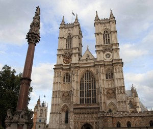 Westminster Abbey; originally founded in 960 AD, it has been the site for the coronations of all British and English monarchs since 1066 AD.