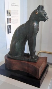 The Gayer-Anderson Cat, which represents the cat-goddess Bastet (ca. 600 BC, possibly from around Saqqara).