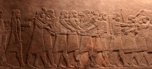 'Return from the Hunt', another Assyrian panel taken from the North Palace in Nineveh; dated to 645-635 BC.