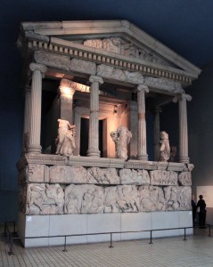 'he Nereid Monument, a sculptured tomb from Xanthos (4th-century BC).