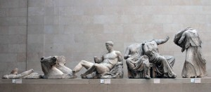 Sculptures taken from the east pediment of the Parthenon for preservation at the British Museum.