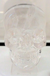 A rock crystal skull from the late 19th-century AD; created in Europe, it once fooled many who believed it was an artifact from the Aztecs.