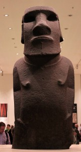 Basalt statue known as 'Hoa Hakananai'a' from Easter Island (ca. 1400 AD).