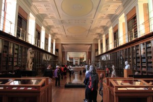 The Enlightenment Gallery, which contains many objects that are organized into seven themes and displayed according to 18th-century AD practices.