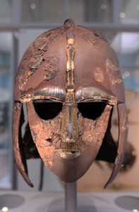 The Sutton Hoo Helmet, one of four complete helmets to have survived from Anglo-Saxon England (6th or 7th-century AD).